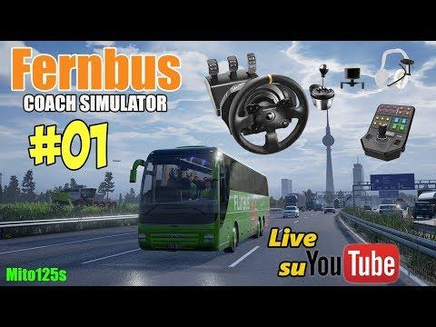 🔴 Fernbus Coach Simulator #01 - Autobus Di Linea - Tx + Side Panel + TrackIr 5