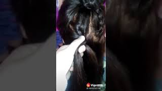 Cute Women Hair Braid Bun