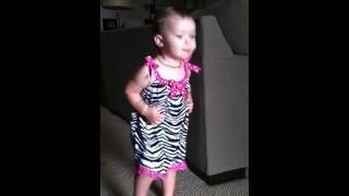 Baby dances to Justin Bieber