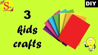 3 kids crafts with paper | easy paper crafts to make at home | crafts with paper for kids easy