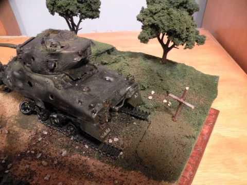 Italeri 1/35 Derelict Sherman Tribute Diorama