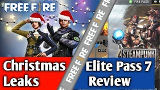 Elite Pass Season 7 Review Free Fire(Hindi/English)| Christmas Leaks Free Fire|| Clashy Point