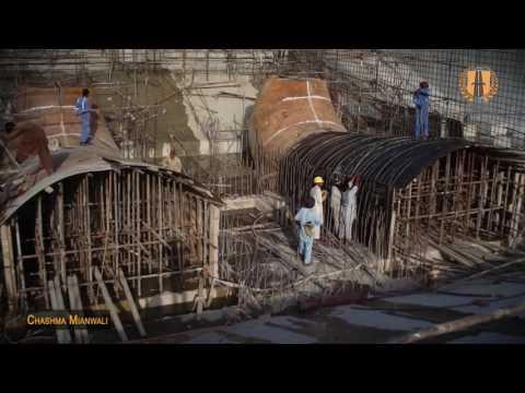 Construction of Chashma Mianwali Hydel Power Dam by Habib Construction Pakistan