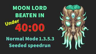 Terraria - Moon Lord in 39:10 Seeded normal mode Speedrun