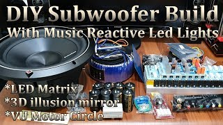 DIY Subwoofer Build With Music Reactive LED Light