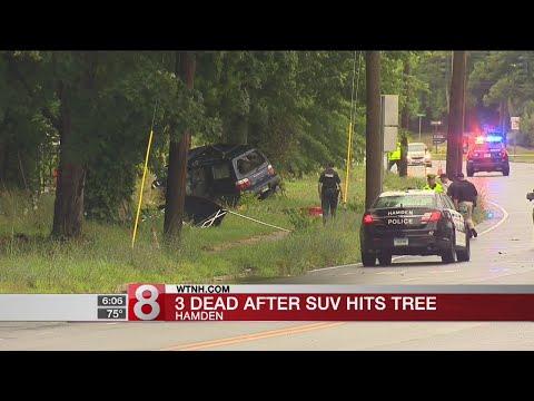 3 dead after SUV hits tree in Hamden