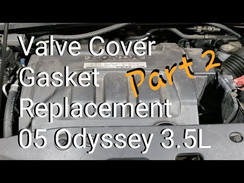 Valve Cover Gasket Replacement 05 Honda Odyssey 3.5L Touring (Part 2)