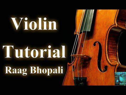 Instrument Tutorials | Raag Bhopali on Violin  | Learn Violin Online | Divya Music