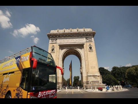 BUCHAREST CITY TOUR ON DOUBLE DECKER BUS, ROMANIA, JUNE 2016