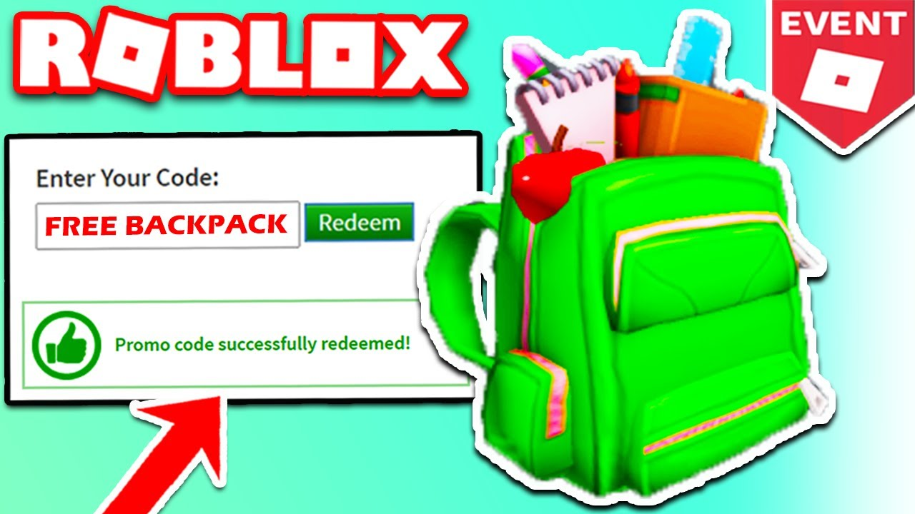 Roblox Backpack Free Promocodes How To Get The Fully Loaded Backpack Roblox August 2020 Working Promocodes New Youtube