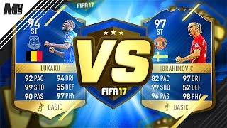 FIFA 17 TOTS LUKAKU VS TOTS IBRAHIMOVIC | FIFA 17 ULTIMATE TEAM