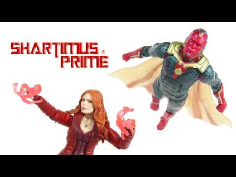 Marvel Legends Vision Scarlet Witch Toys R Us Exclusive 2 Pack Avengers Infinity War Figure Review