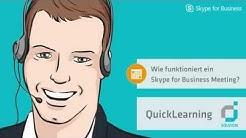 Wie funktioniert ein Skype for Business Meeting - Solvion QuickLearning
