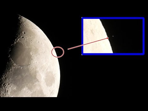 Something is happening on the moon, take a Look!!! (Raw footage)
