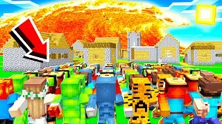 100 PLAYERS PROTECT THE VILLAGE FROM LAVA TSUNAMI!