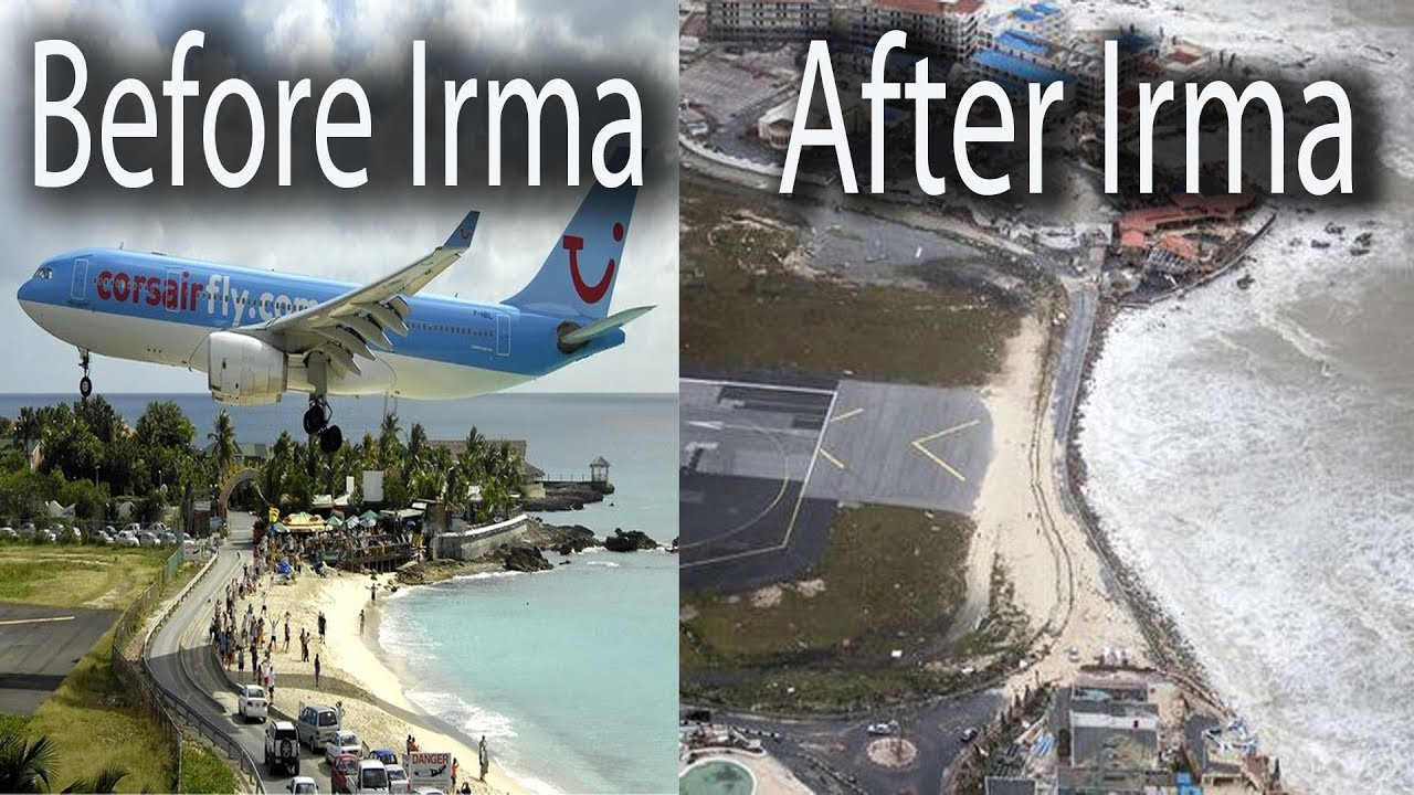 maho beach before and