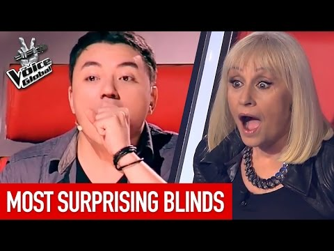 The Voice | MOST SURPRISING Blind Auditions worldwide