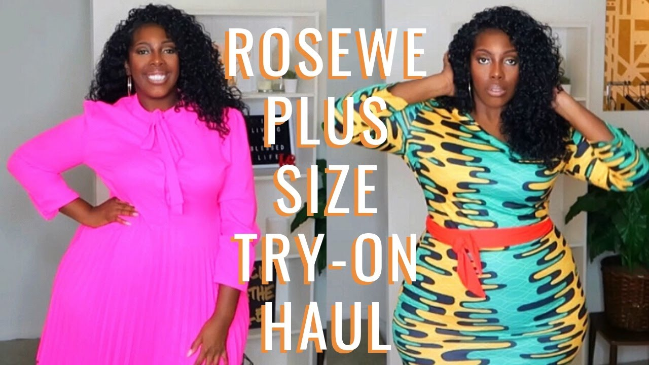 9253543b8a4f94 Feb 2019 Rosewe Plus Size Try-On Haul. Pretty Nici