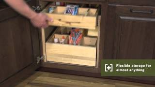 Schuler Cabinetry: Slide-out Shelves With Dividers, Kitchen Storage Part 18