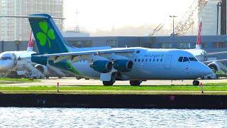 Aer Lingus AVRO RJ85 in NEW LIVERY Landing at London City Airport (LCY)! | Op by Cityjet | EI-RJI
