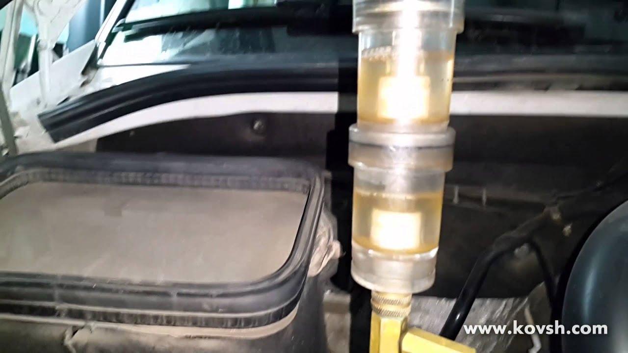 Попадание газов в бачок охлаждения