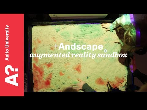 +Andscape - augmented reality sandbox by Aalto ARTS at Helsinki Design Museum