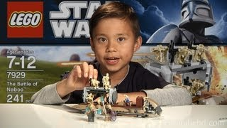 THE BATTLE OF NABOO - LEGO Star Wars Set 7929 - Time-lapse Build, Unboxing & Review