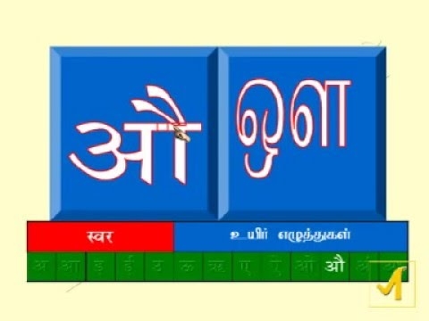 Introduction about Hindi through Tamil and English(Vowels and  Consonants)-Part 1