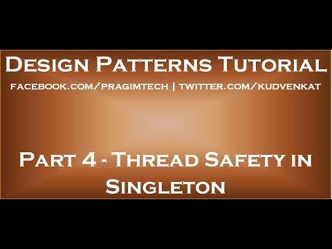Thread Safety in Singleton