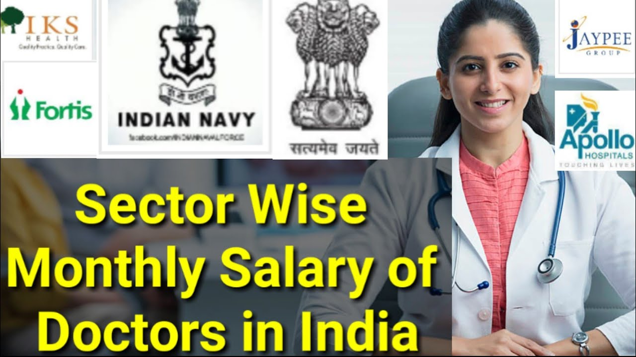 Doctor Per month Salary in India for the year 2018