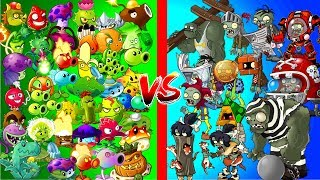 All Zombies vs All Plants in Plants vs Zombies 2 Power UP Challenge - Electric and Close Range Plant