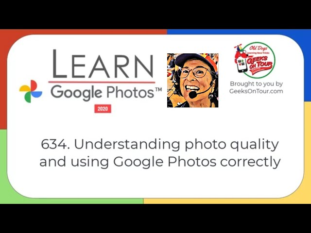 Understanding Photo Quality and File Size Tutorial Video 634