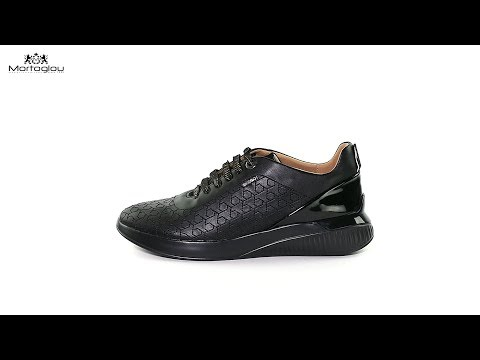 41a31672369 Γυναικεία Παπούτσια Casual Geox D828SC Black Leather - YouTube
