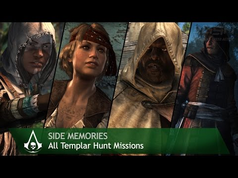 Assassin's Creed 4: Black Flag - Side Memories - All Templar Hunt Missions