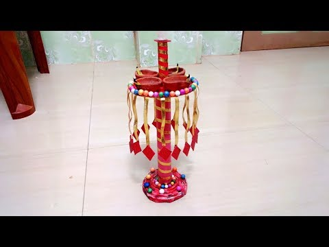 DIWALI SPECIAL DIY DIYA & CANDLE STAND Craft Ideas at Home 2018
