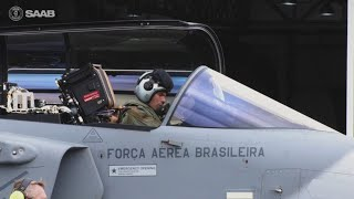 homepage tile video photo for Ground testing Gripen in Brazil