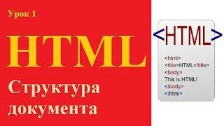 видео Структура HTML документа: html, head, body, title