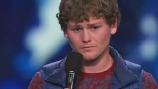 America s Got Talent Drew Lynch with a stand up comedian act Golden buzzer