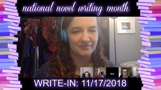 NaNoWriMo Virtual Write-In hosted by WordNerds 11/17/18