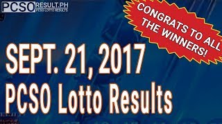 PCSO Lotto Results Today September 21, 2017 (6/49, 6/42, 6D, Swertres & EZ2)