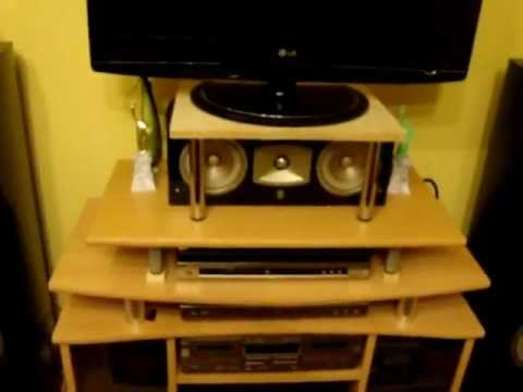 my new speaker system funnydog tv. Black Bedroom Furniture Sets. Home Design Ideas