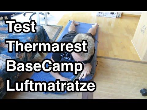 test thermarest basecamp xl luftmatratze selbstaufblasende luftmatratze youtube. Black Bedroom Furniture Sets. Home Design Ideas