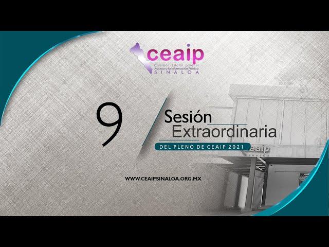 Sesión Extraordinaria de Pleno no. 9/2021
