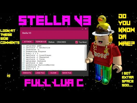 Roblox Hack/Exploit:Stella V3(Patched)Full Lua C, Custom UI, And More!