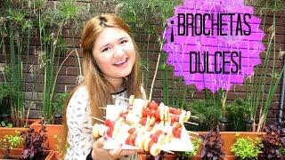 BROCHETAS DULCES (NUTELLA-BANANO-FRESAS) Thumbnail