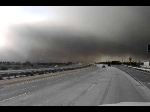 Antelope Valley Dust Storm, As Seen From 14 Freeway