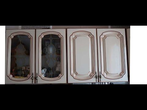 Как покрасить кухонные фасады из мдф в домашних условиях видео