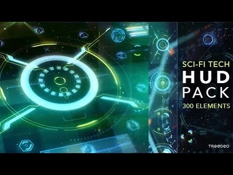 Video Infographic : HUD Sci-Fi Infographic template – Free