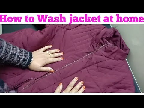 How To Wash Jacket At Home/Easy Jacket Cleaning-monikazz Kitchen