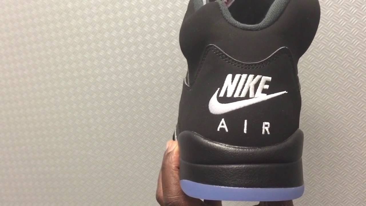 e52ba5d3832a Nike Air Jordan 5 Retro Black Metallic silver First Look W  On Feet 2016 -  YouTube